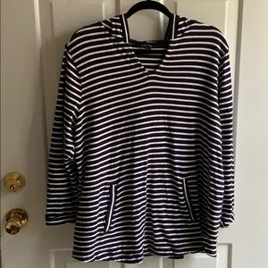 Lands' End Striped Top with Hood